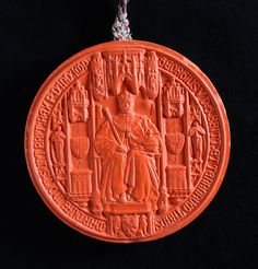 George V Great seal, obverse, 1923. The National Archives reference HO124/41.