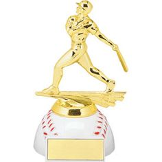 $6.25 Baseball Trophy with Unique Baseball Base. Looking for something different? Try our new baseball trophy with a round baseball base!