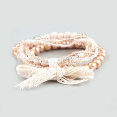 FULL TILT 5 Piece Bow Tied Beaded Bracelets