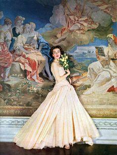 Model Dorian Leigh for Moddess, 1952