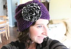 craft, knit, yarn, flower, hat