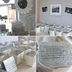 white winter wonderland birthday party
