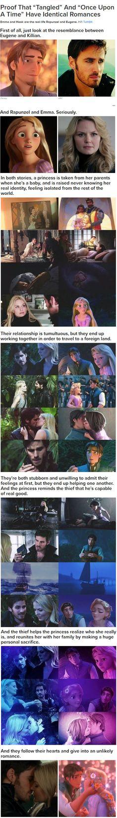 The Emma & Hook and Rapunzel & Flynn parallels