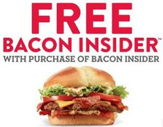 Jack-In-The-Box Coupon: Buy 1 Bacon Insider, Get 1 FREE!