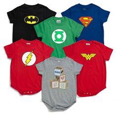 Super Hero onsies....cute