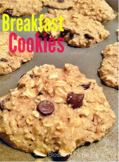 Healthy Breakfast Cookies! | Blossom to Be Fit #healthy #cookies #yum #baking #health #breakfast #yummy #food