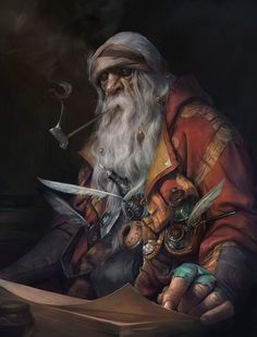 Gnome or dwarf scholar. Must See Concept Art by StepanAlekseev
