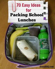 Packing School Lunches: 70 Easy Ideas - Check out these fun and simple ideas to make lunch time a whole lot tastier! #fuelyourimagination #sp