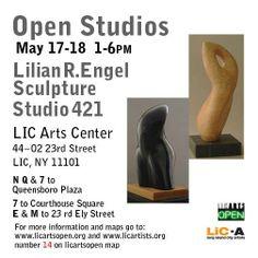 """Lilian R. Engel. """"Open Studios"""" Studio 421 in LIC Arts Center. May 17-18, 2014. #sculptures"""