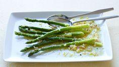 Asparagus Vinaigrette with hard boiled eggs