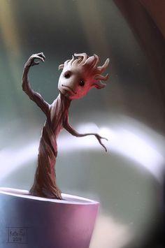 D'AAWW baby Groot!!! We are GROOT by Kate-FoX on deviantART #nerdgasm