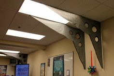 Faux metal on wall- VBS 2014 - Lifeway's AgencyD3 - PROPS