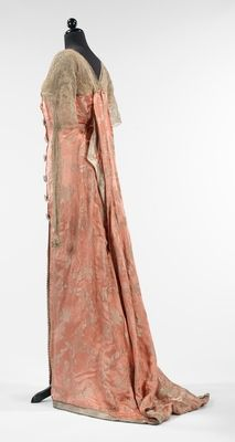 Callot Soeurs Evening Dress ca. 1914 silk, metal, rhinestones