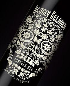 Dearly beloved red wine label by Stranger & Stranger