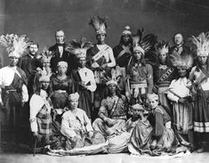 Iroquois (Mohawk) group in Montreal, Canada - 1869