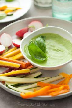 Creamy Basil Parsley Dip | Gourmande in the Kitchen