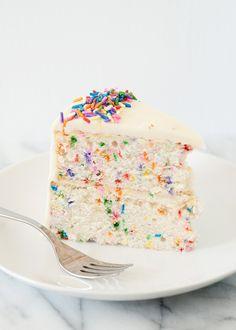 Homemade Funfetti Cake |Baked Bree