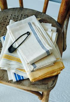 Found, the website  Old linen towels