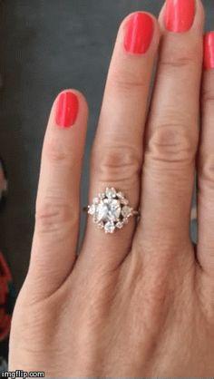 Mociun Custom designed Mini Snowflake engagement ring @mociun