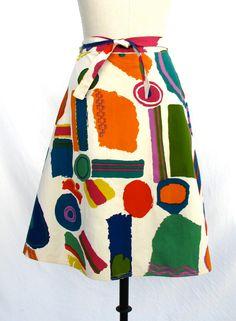 """1964 Zandra Rhodes """"Top Brass"""" Wrap Skirt."""