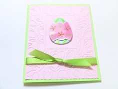 Handmade Easter Card Embossed 3D Easter Greeting Card by zuCards, $3.00