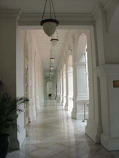 The cool white marble, the high ceilings to captured any errant breeze in Raffles Hotel in Singapore are just like the many hotels and palaces in colonial India in my trilogy Twilight of the British Raj. www.christinelindsay.com