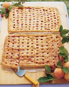 Peach-Raspberry Slab Pie