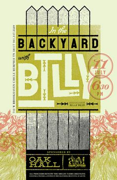 Harvest | AMIK | In the Backyard with Billy Reed | poster | concept
