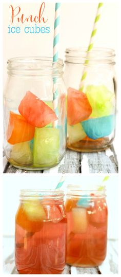 "Punch Ice Cubes - the kids LOVE these! AKA ""Magic Potion"" { lilluna.com }"