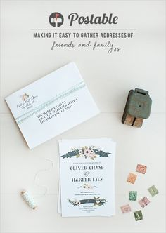 this is seriously so great! so many people we know use this too! gather all your addresses for free with postable http://www.weddingchicks.com/2012/10/16/postable/