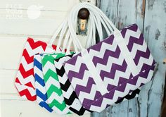 Take It With You - Chevron Canvas Bags for 66% Off! #chevronbags