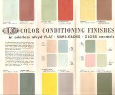 Mid Century Interior paint colors (vintage)...I love the coral and light mint green combo.  Secret Design Studio knows Mid Century Modern Architecture.   www.secretdesignstudio.com