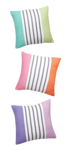 Cute striped pillow covers