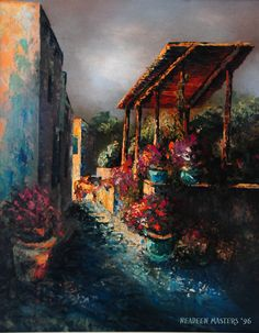 Mexican Alley by Neadeen Masters  Acrylic