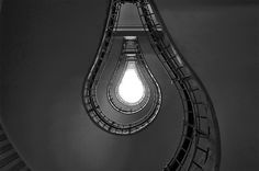 light bulb staircase
