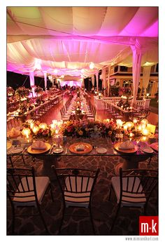 Peacock Garden reception setup