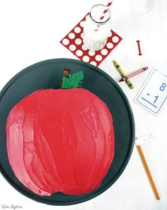 Easy 'A Is for Apple' Cake to Celebrate Back-to-School | Kim Byers, TheCelebrationShoppe.com #backtoschool #applecake #cake #party #funfood