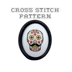 DIY Sugar Skull (version 6) - .pdf Original Cross Stitch Pattern - Instant Download