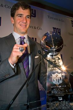 NY Giants virtual Super Bowl Ring or Lombardi Trophy! ELI MANNING BABY.