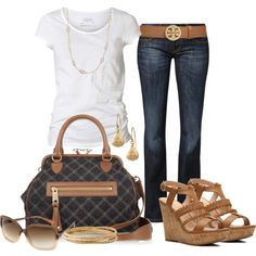 """""""Denim"""" by michellesolinas on Polyvore"""