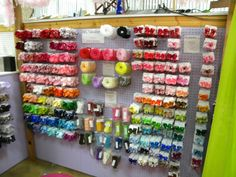 HAIR BOW booth at a craft fair | - booth display (permanent booth) - Hip Girl Boutique Free Hair Bow ...\ Pegboard and hooks