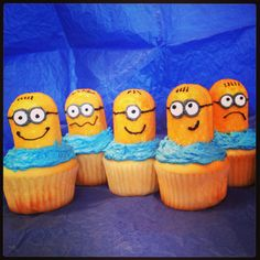 Minion Cupcakes!! Now she wants a minion party!