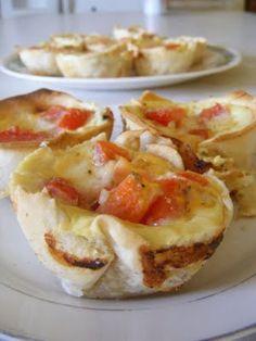 Tomato Provolone Mini Quiche - yum!!