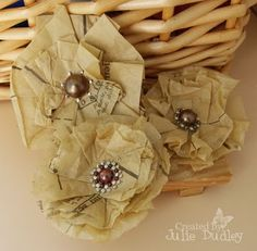 diy paper flowers using old patterns