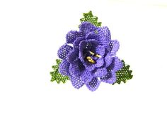 Brooch  silk needle   the needle's  Lilac rose   by guldemirdinc, $35.00