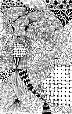 shapes within shapes - inspiration to show this style of drawing can work well