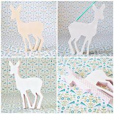 Dotty deer made with MT tape polka dots, decor tape, mt tape, tape idea, craftidea deer, prints, washi tape, mask tape, deer moos