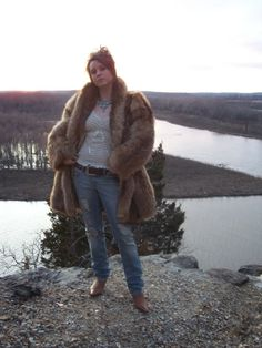 Fox Raccoon Fur Jacket.