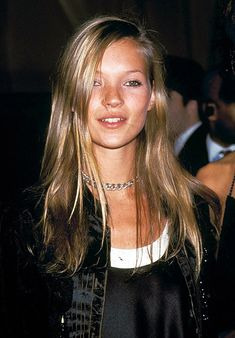 "easy 90s hair and makeup.  Lovvvve ""retro"" Kate Moss"
