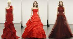 Red wedding dresses.